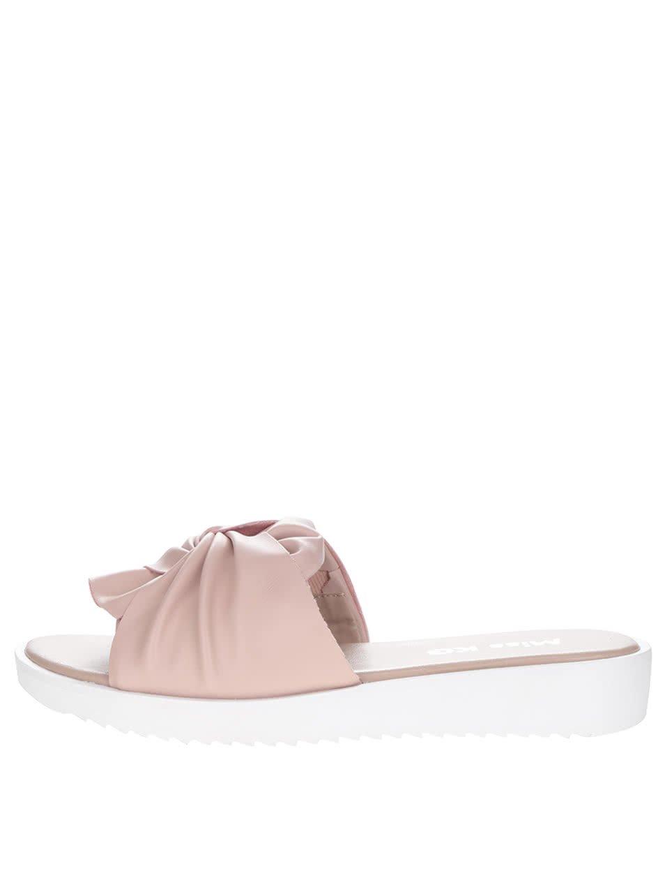 Starorůžové pantofle na platformě Miss KG