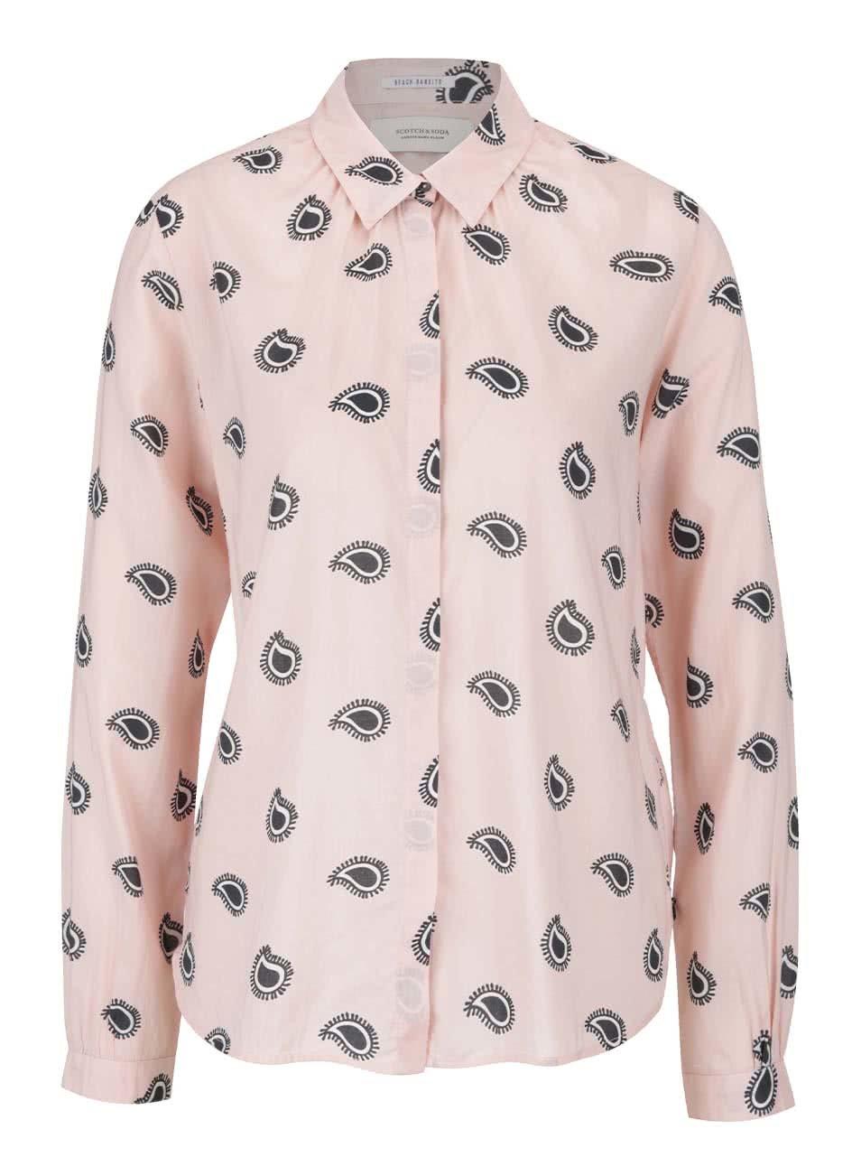 Světle růžová vzorovaná košile Scotch & Soda