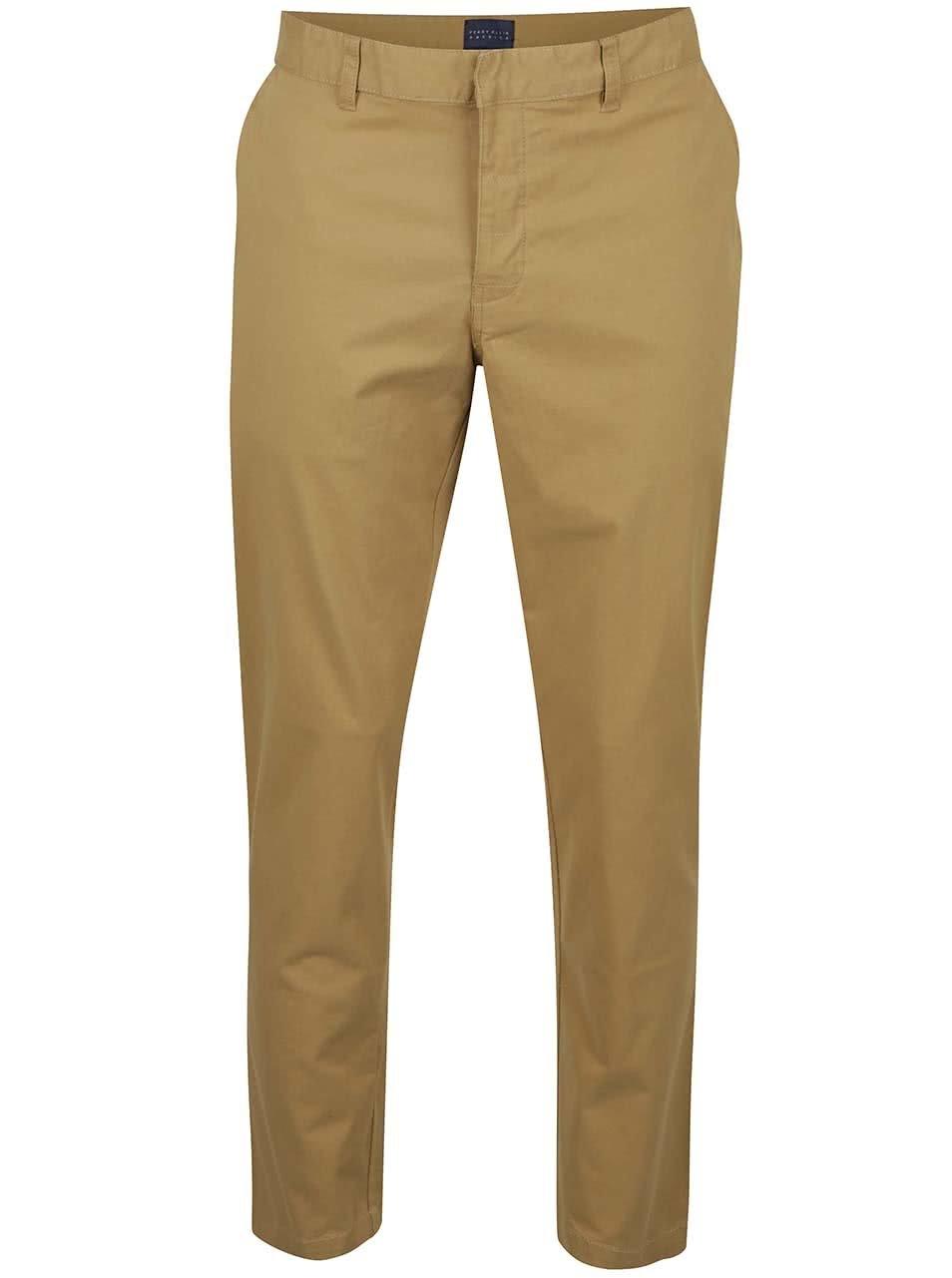 Světle hnědé pánské chino kalhoty Perry Ellis Eastside