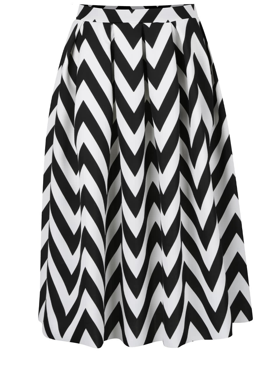 Černo-bílá pruhovaná midi sukně Dorothy Perkins