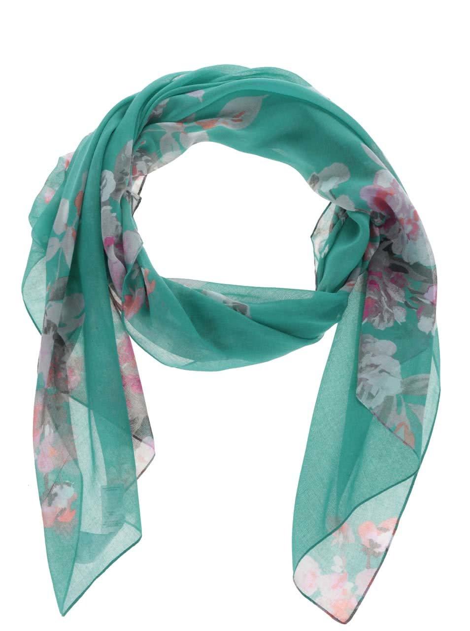 Zelený šátek s květinovým vzorem Tom Joule Wensley