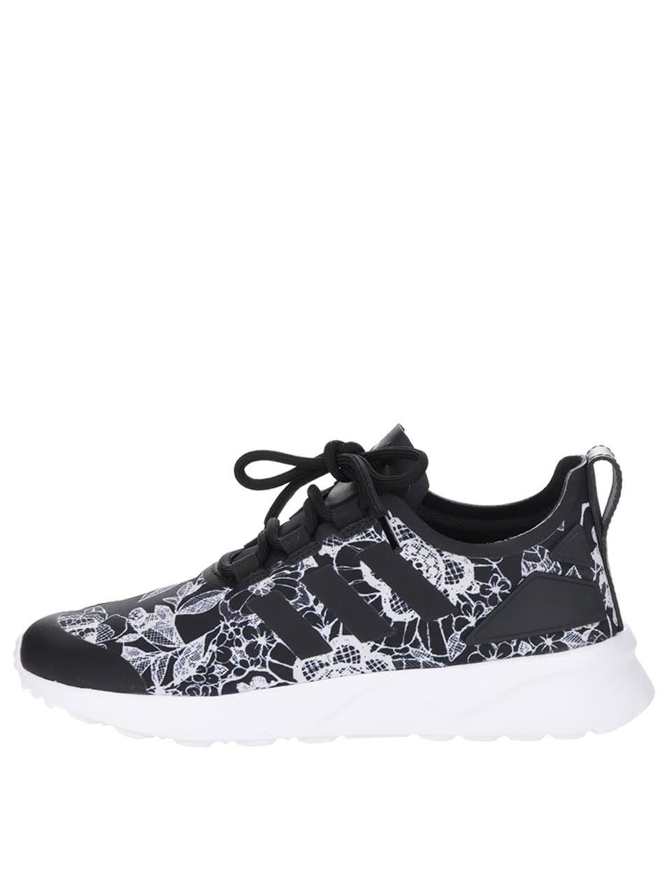 Čierno-biele dámske tenisky adidas Originals ZX Flux    dressie.sk 05367a8a9a1