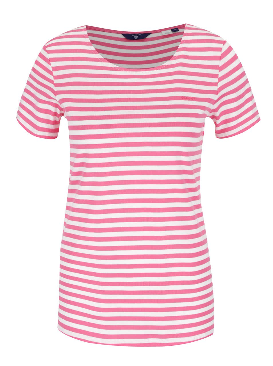 Krémovo-růžové dámské pruhované tričko GANT