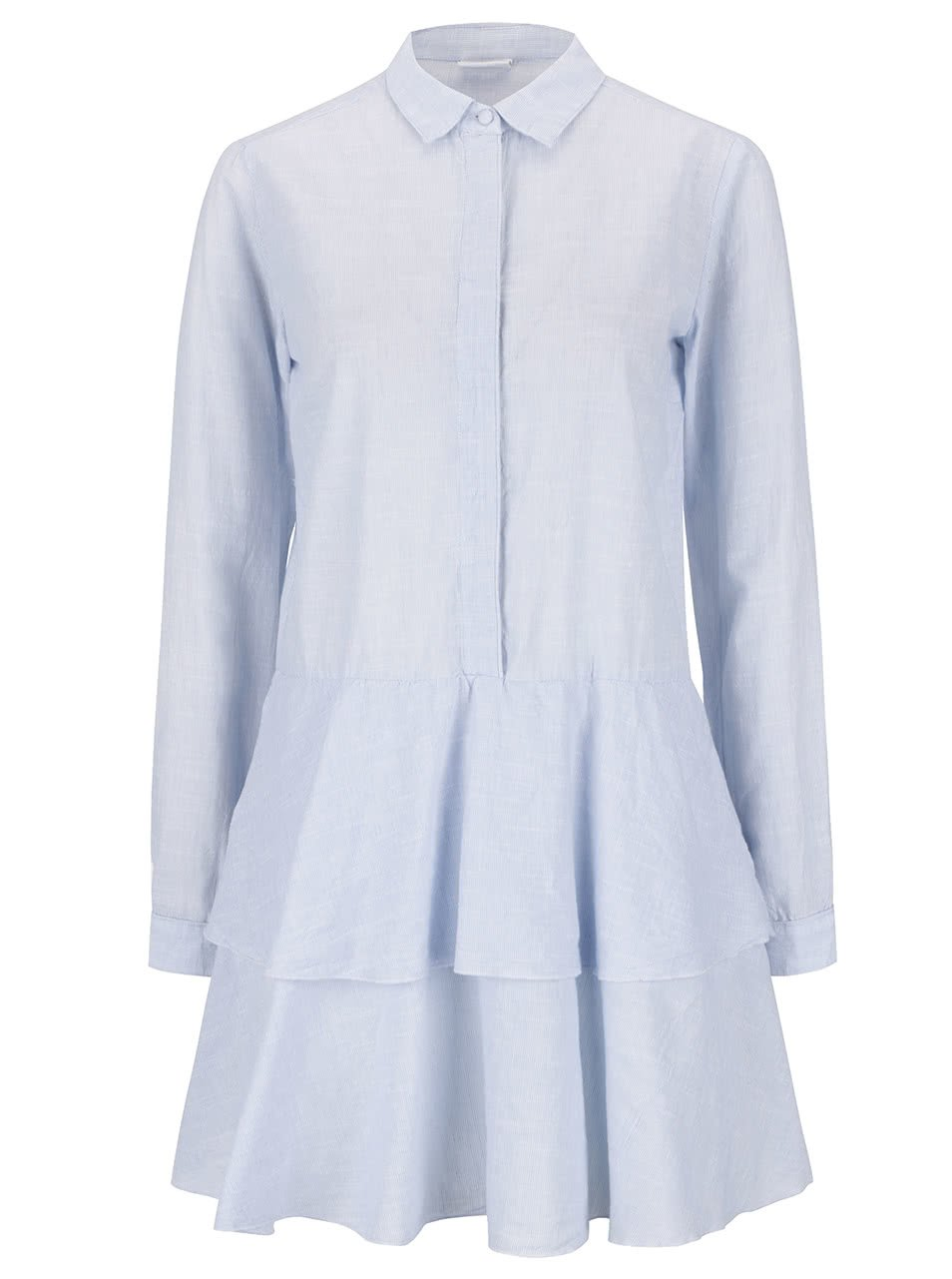 Světle modré košilové šaty VILA Silan