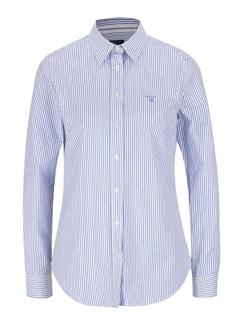 Krémovo-modrá dámská pruhovaná košile GANT