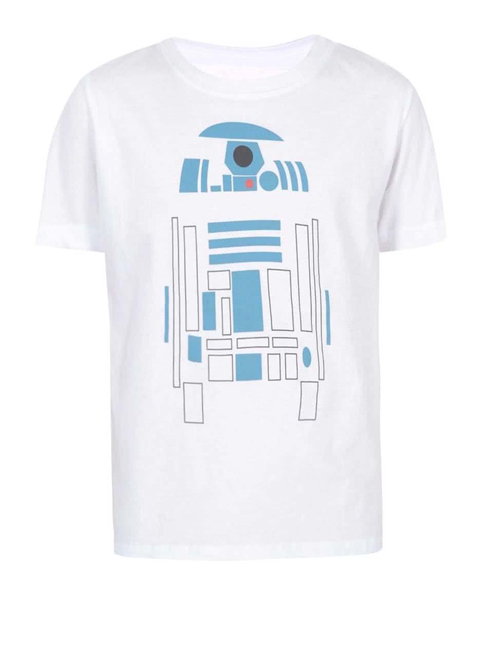 Bílé dětské tričko ZOOT Kids Robot
