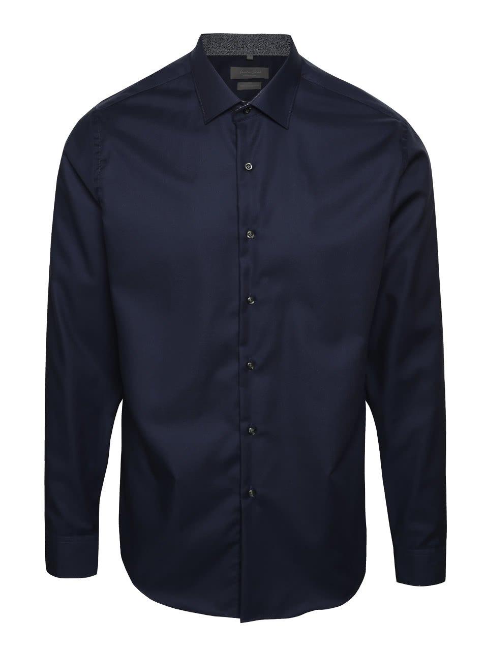 Tmavě modrá formální slim fit košile Seven Seas Sunflower