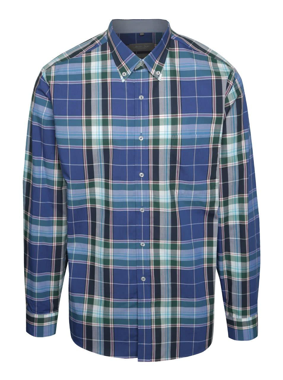 63d74ba3866 Zeleno-modrá kostkovaná košile Seven Seas Milan