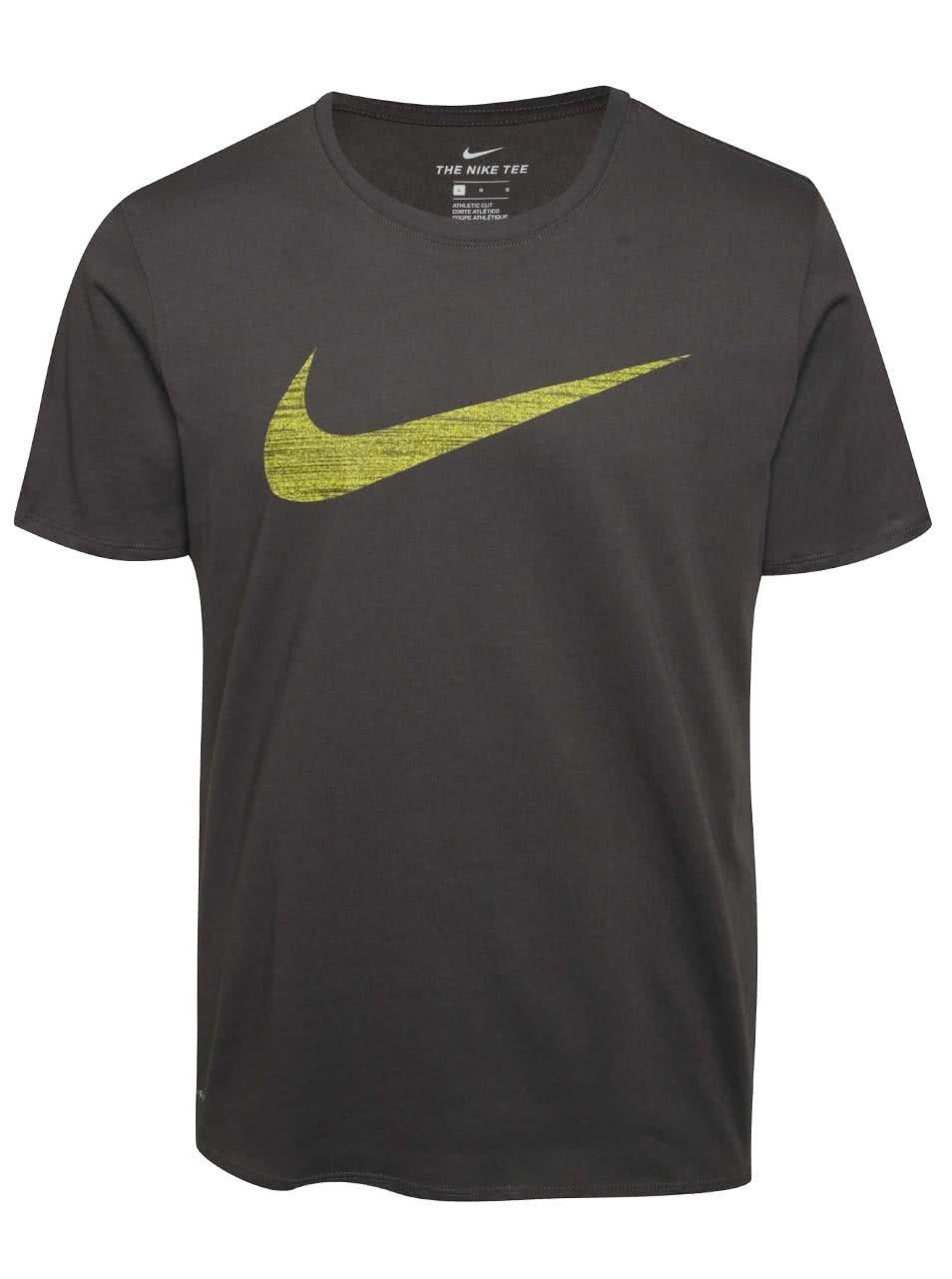 Tmavě šedé pánské funkční triko Nike