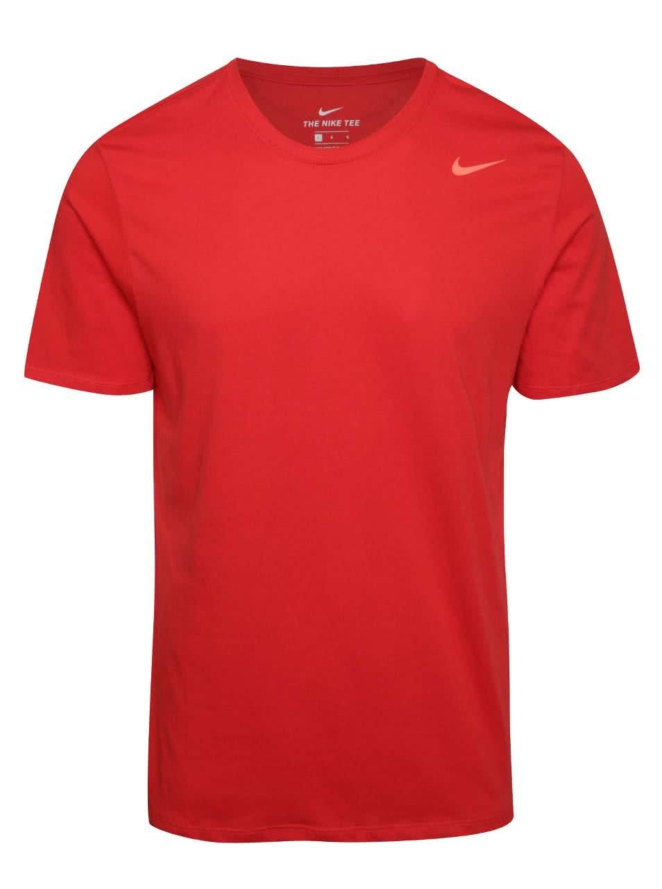 Červené pánské funkční triko Nike