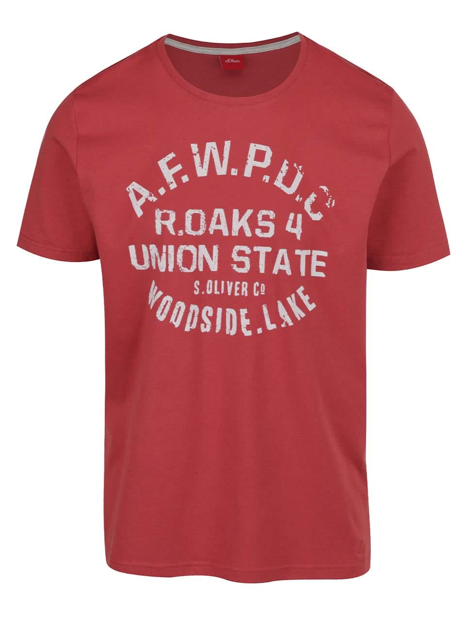 Červené pánské triko s.Oliver