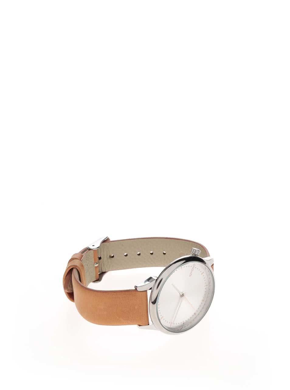 ... Dámské hodinky ve stříbrné barvě s koženým páskem Komono Estelle ... 13dc88b3ed