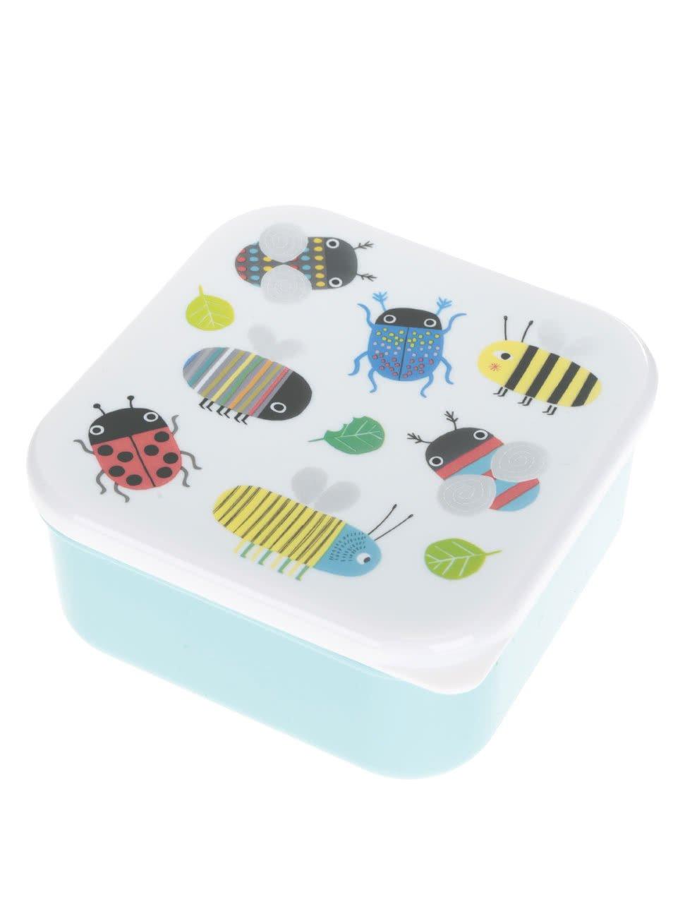 Tyrkysový box na jídlo s potiskem broučků Sass & Belle