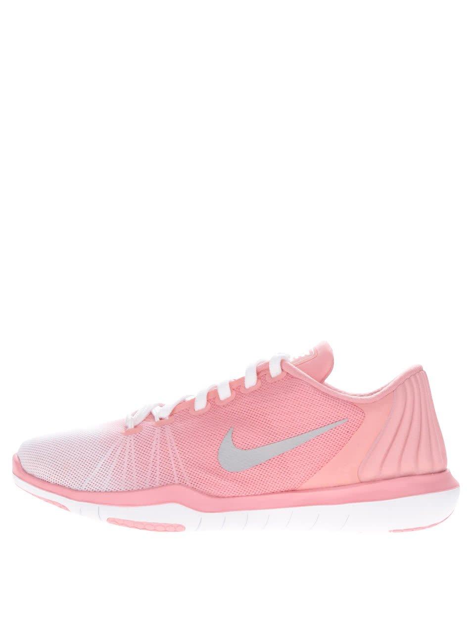 Bílo-růžové dámské tenisky Nike Flex Supreme