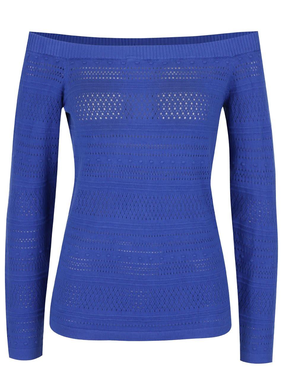 Modrý svetr s odhalenými rameny Dorothy Perkins