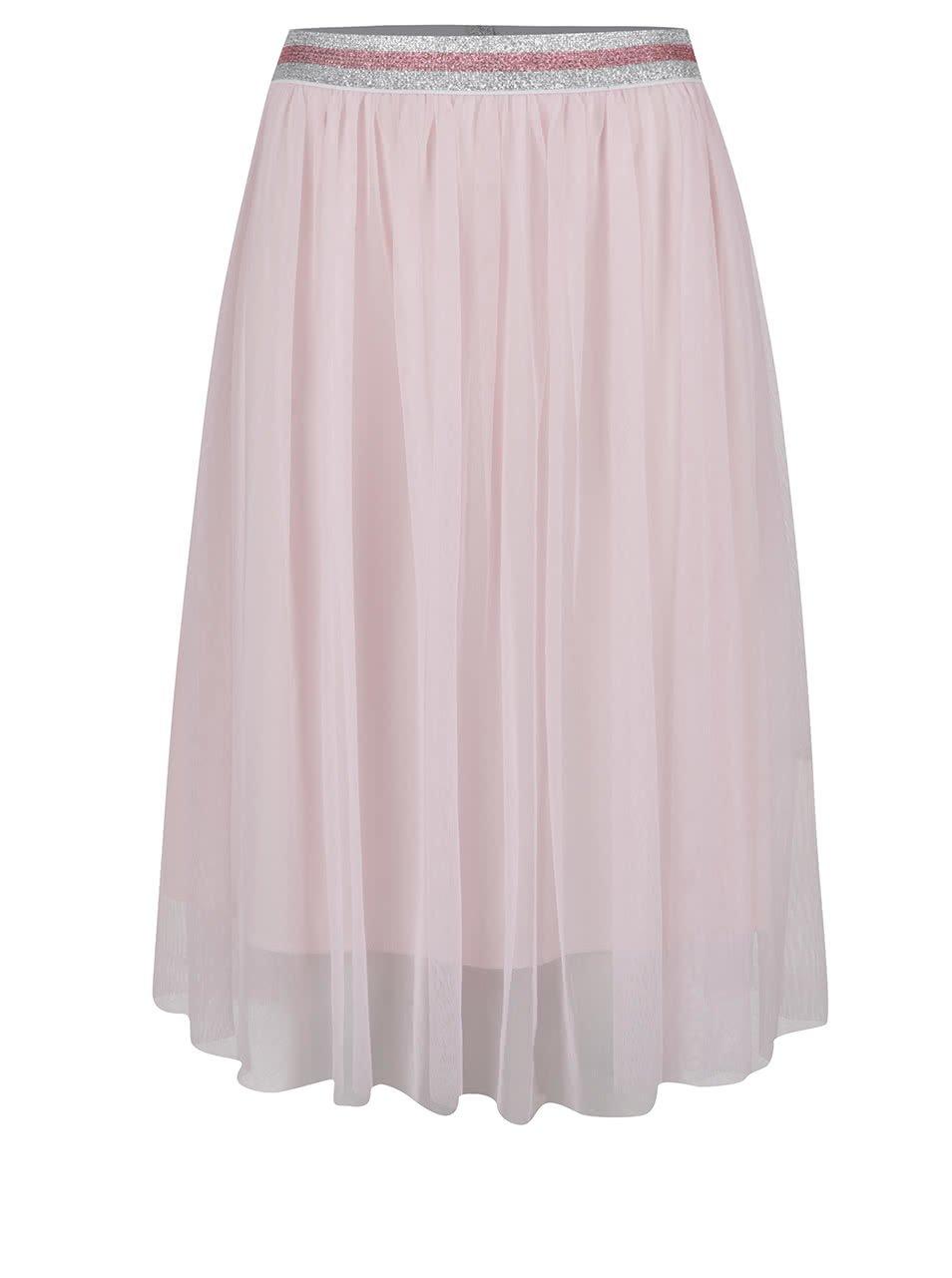 Světle růžová tylová sukně ONLY Shell