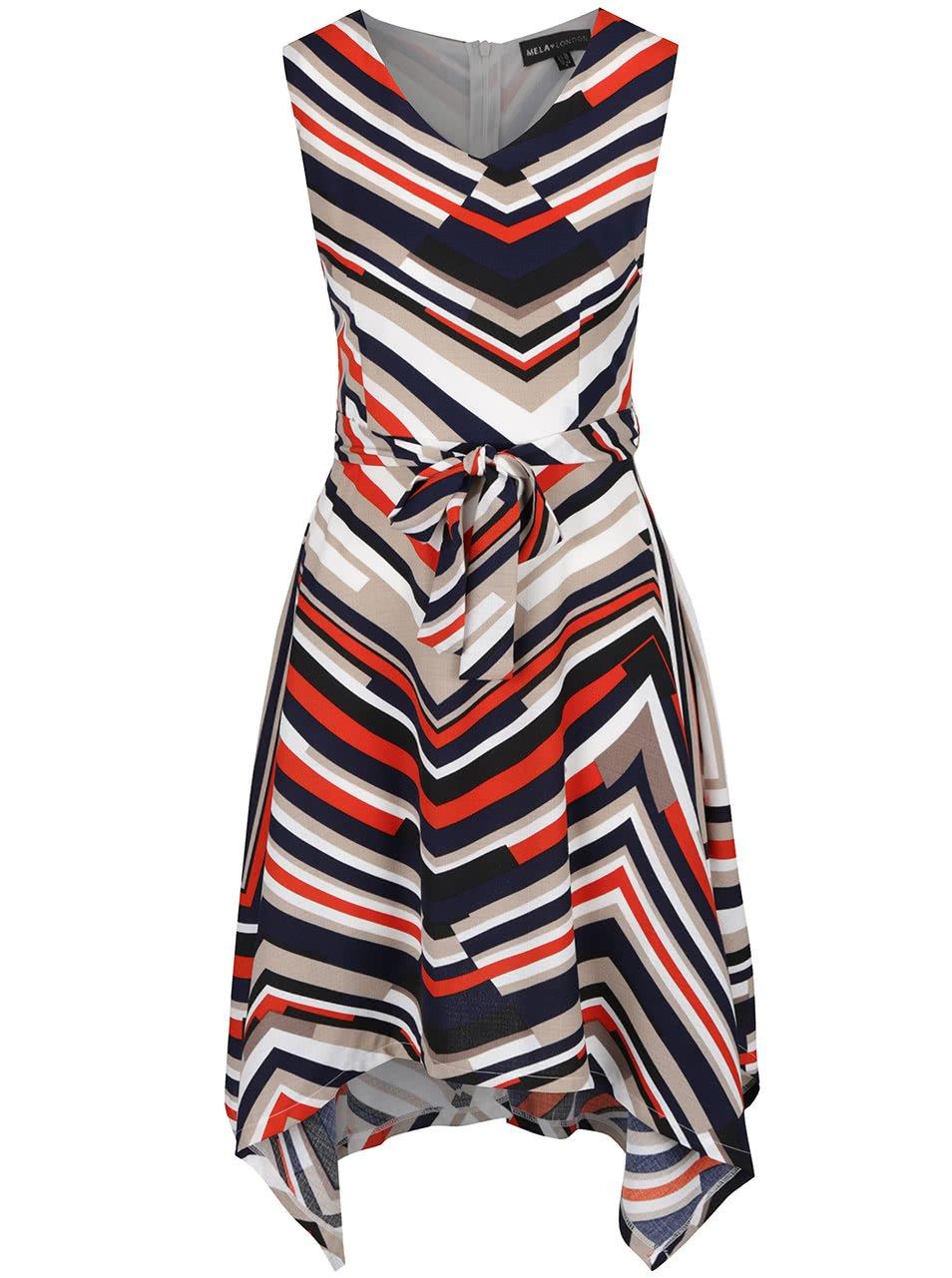 Béžové šaty s páskem Mela London
