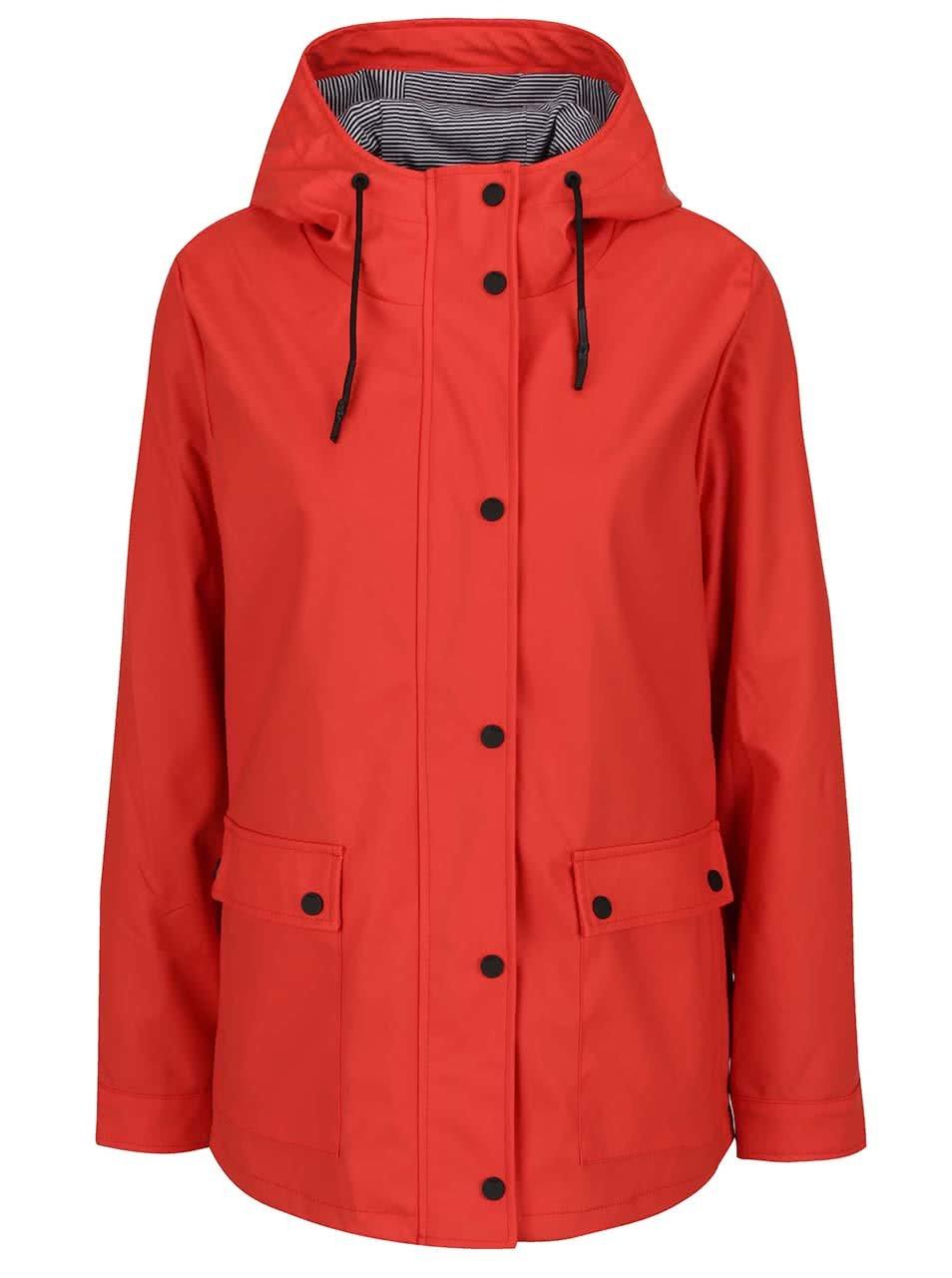 Červená nepromokavá bunda ONLY Valiant
