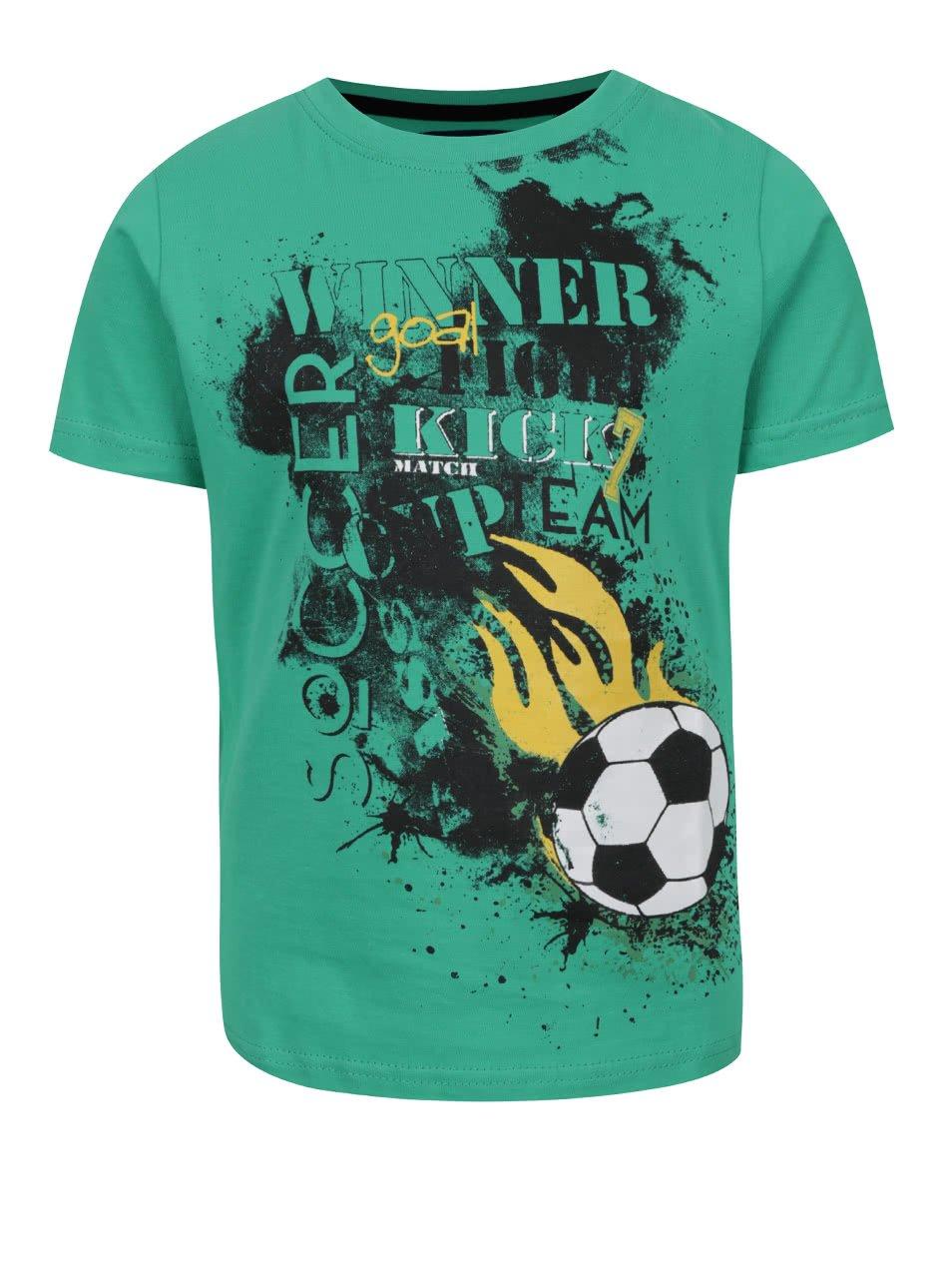 Zelené klučičí triko s potiskem Blue Seven