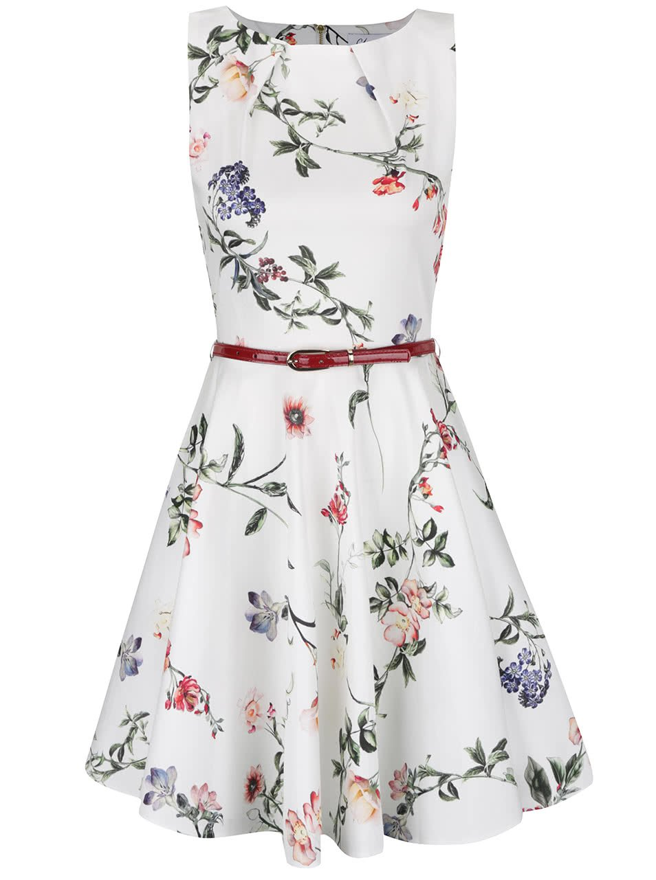 Krémové šaty s páskem Closet