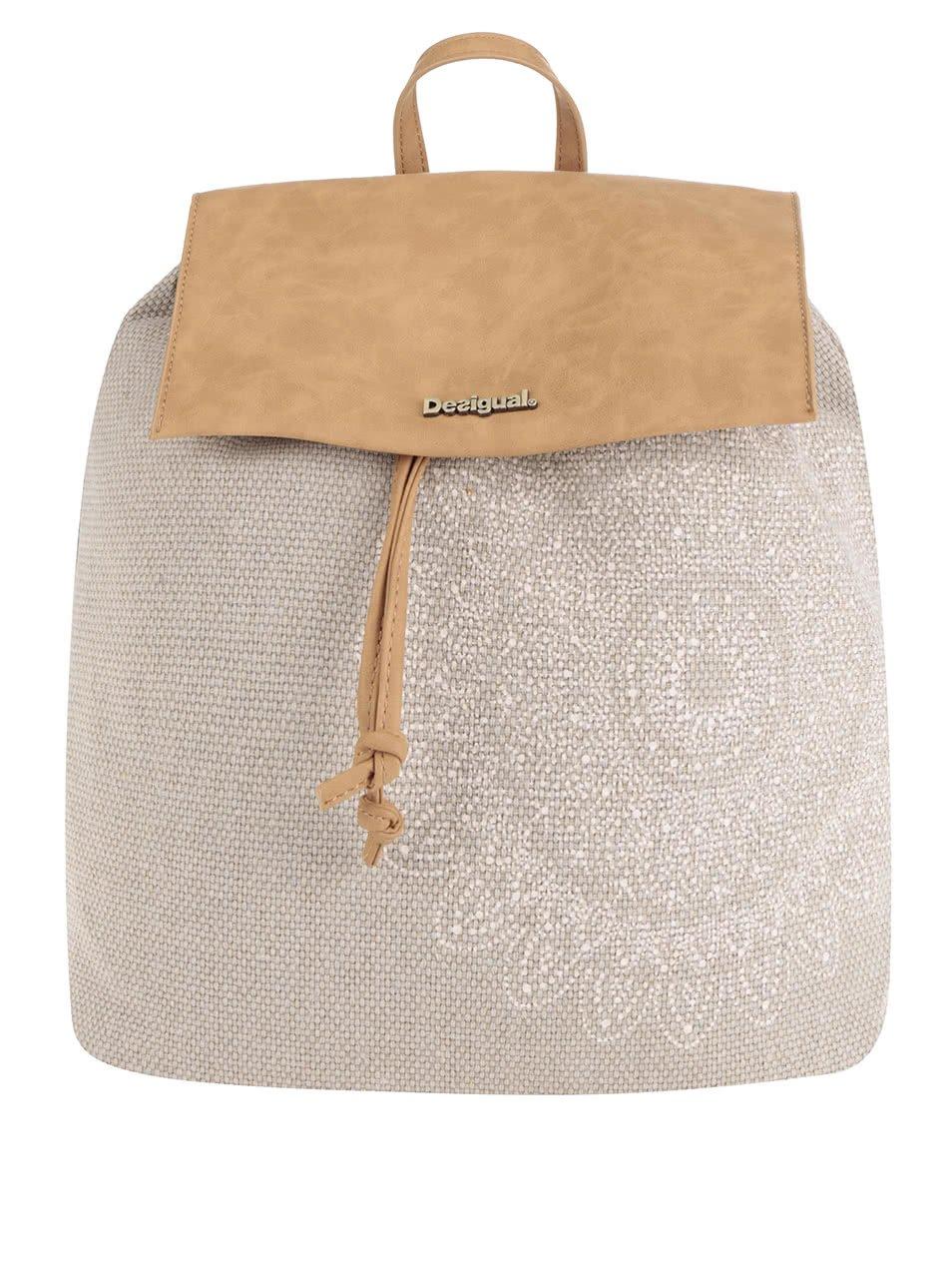 Hnědo-béžový batoh Desigual Chakra Sintra