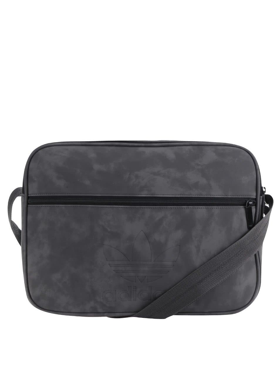 Šedá pánská taška v semišové úpravě adidas Originals Airl Casual
