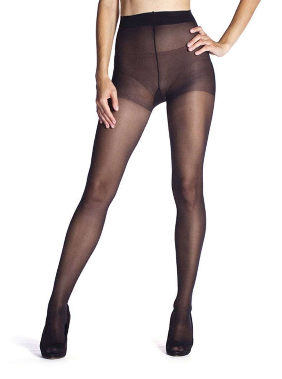 Černé punčochové kalhoty Bellinda Fit in Form 40 DEN
