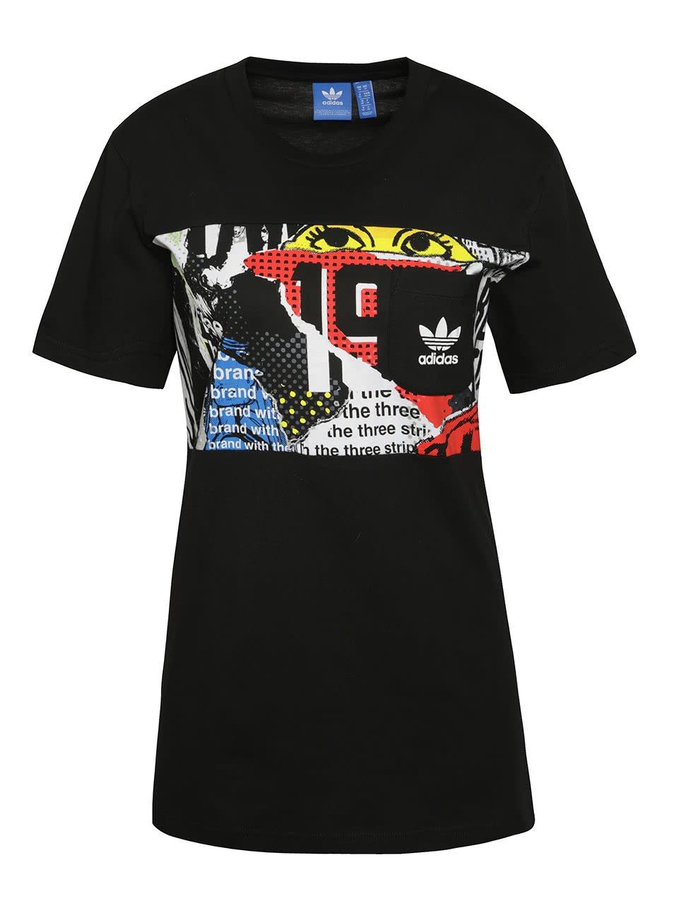 Černé pánské triko s kapsou adidas Originals Panel