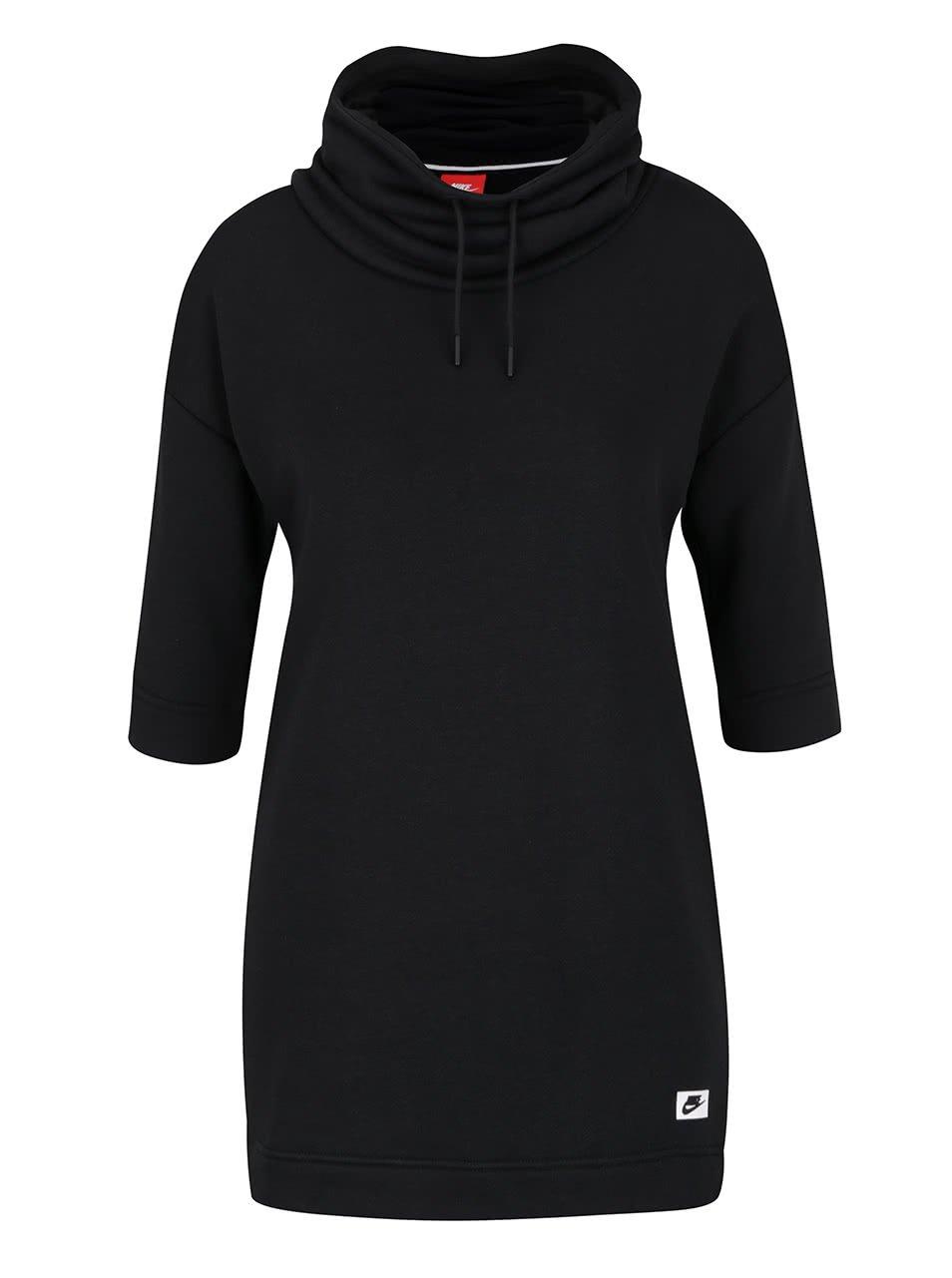 Černá dámská mikina s krátkým rukávem Nike