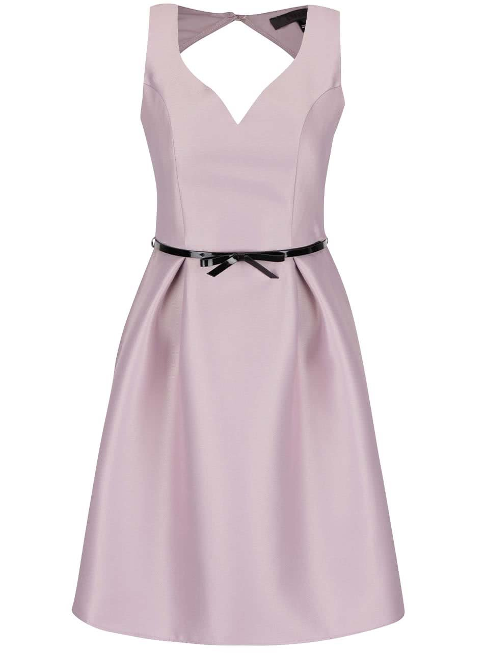 Fialové šaty s páskem Dorothy Perkins