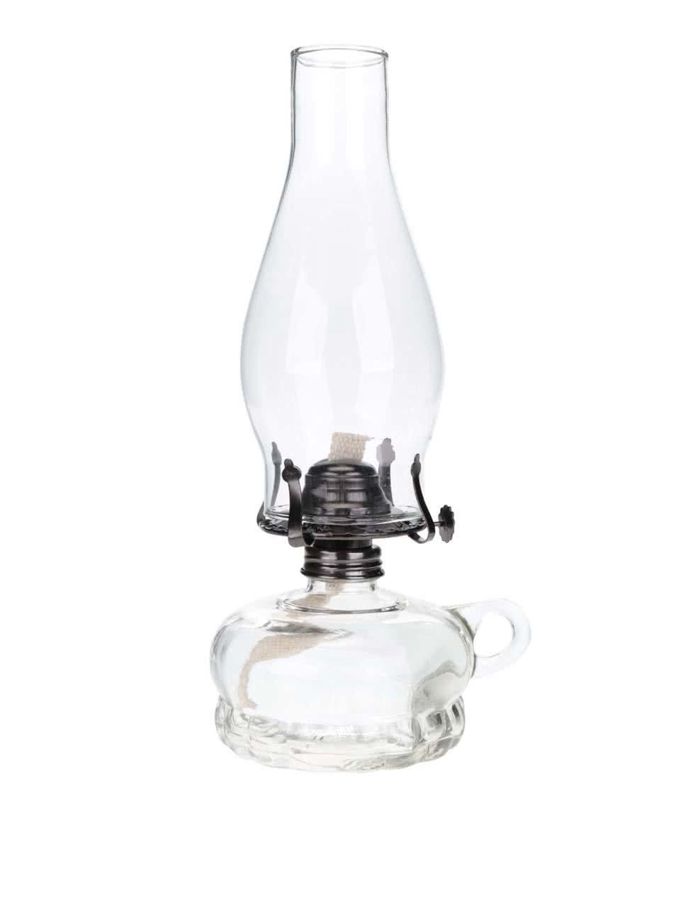 Skleněná petrolejová lampa Dakls