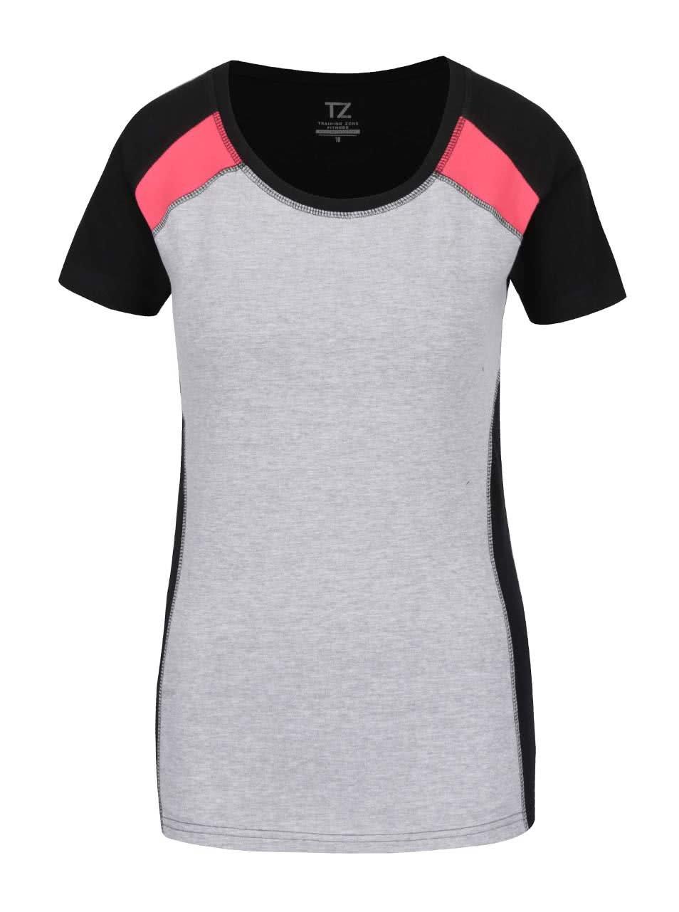 Čierno-sivé dámske tričko M&Co