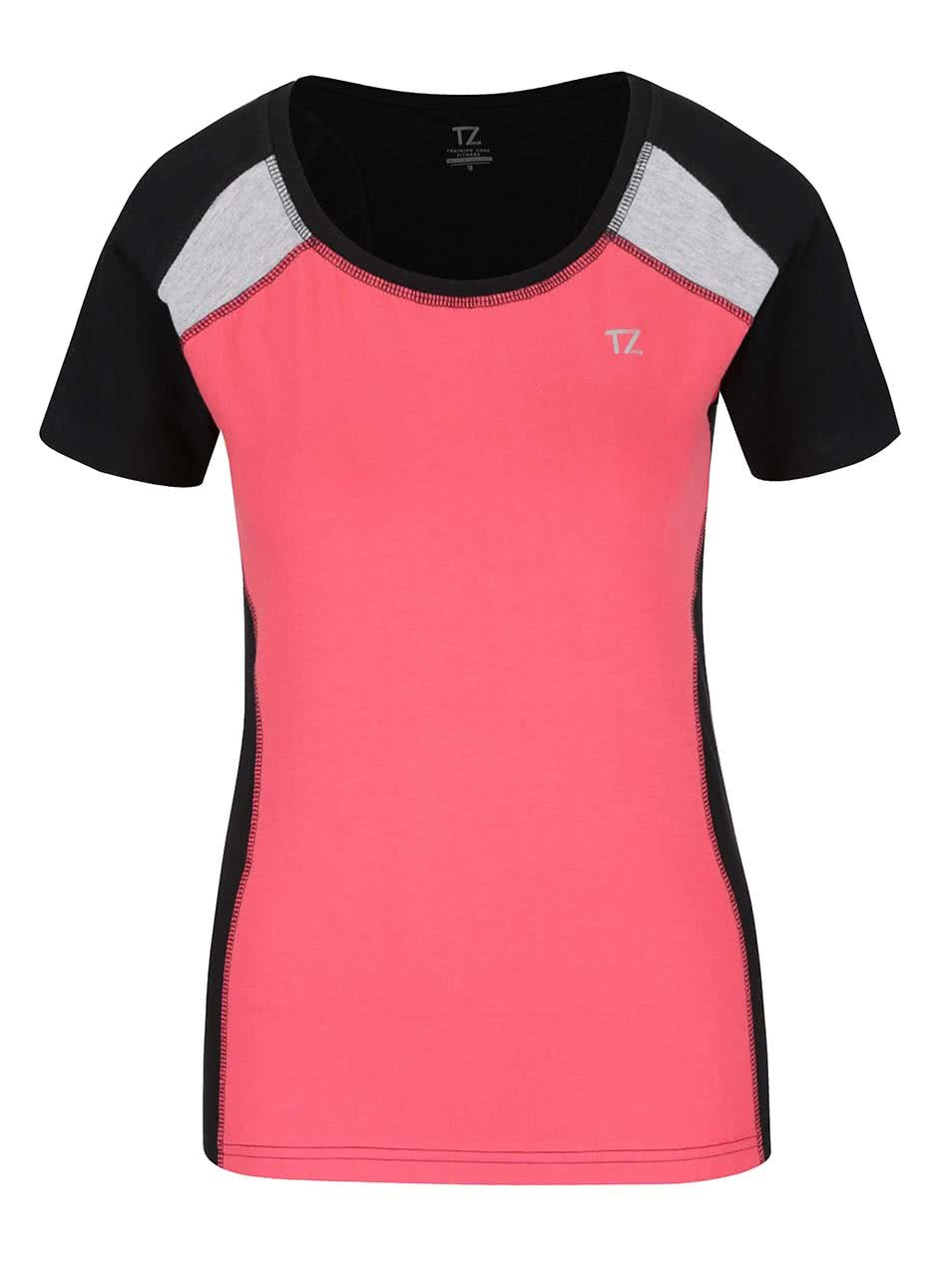 Čierno-koralové dámske tričko M&Co