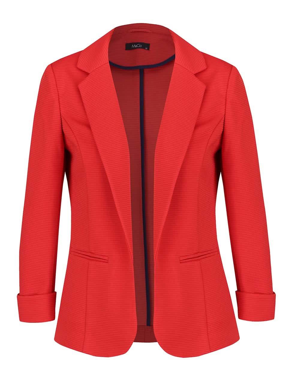 Červené dámské sako M&Co
