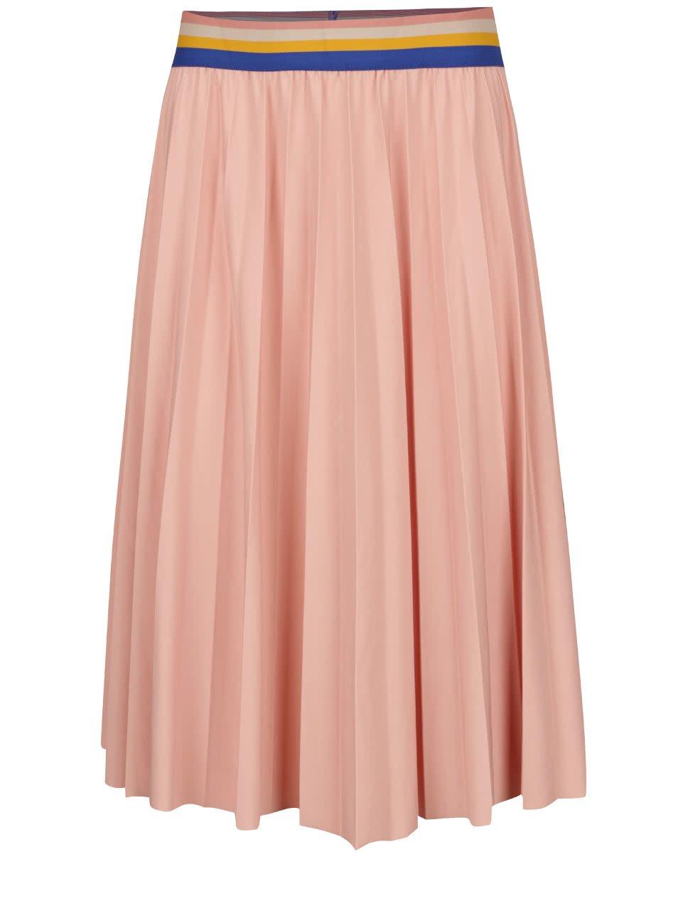 Meruňková plisovaná sukně Noisy May Bob