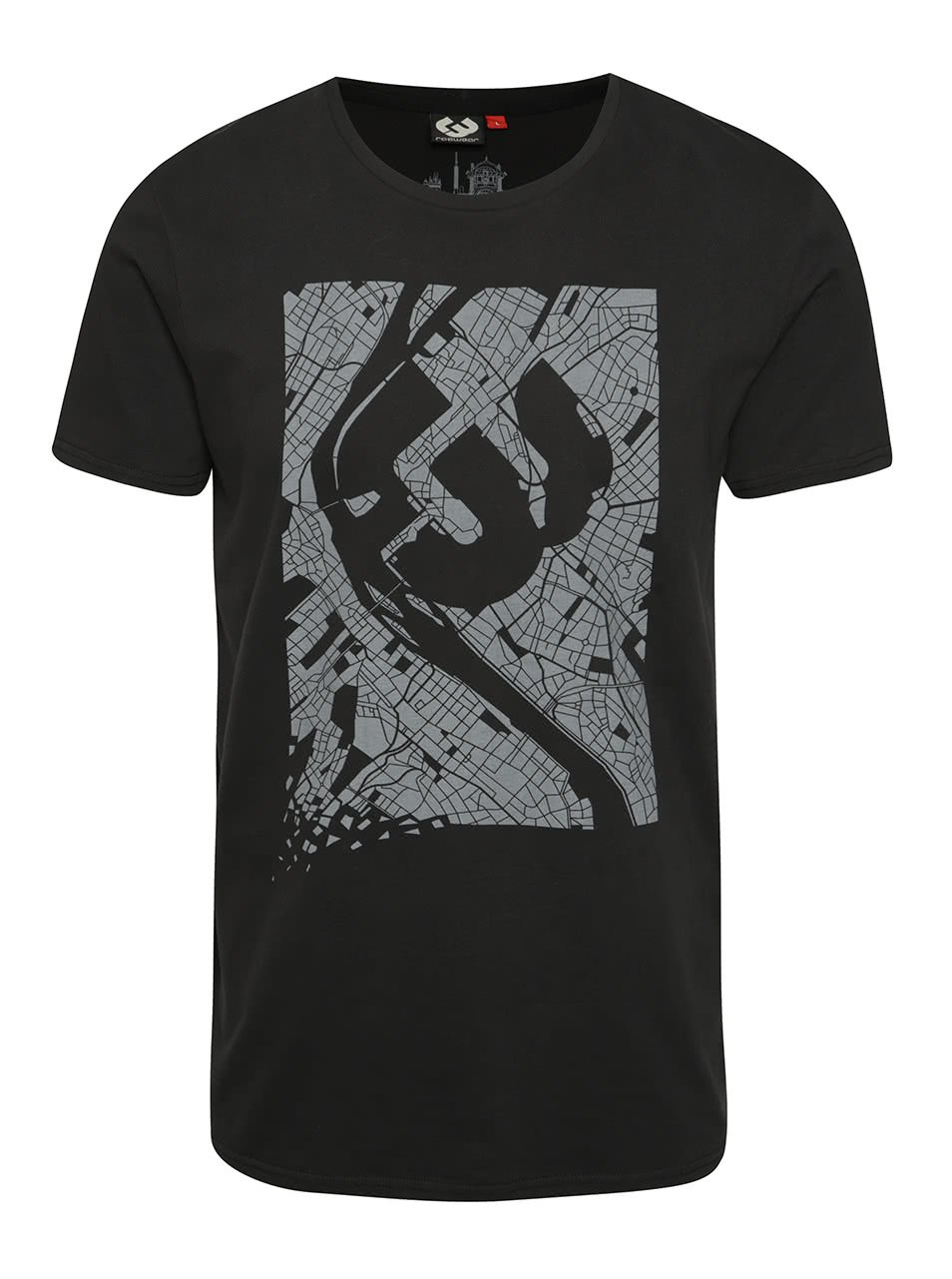 Černé pánské triko Ragwear Paddy Map