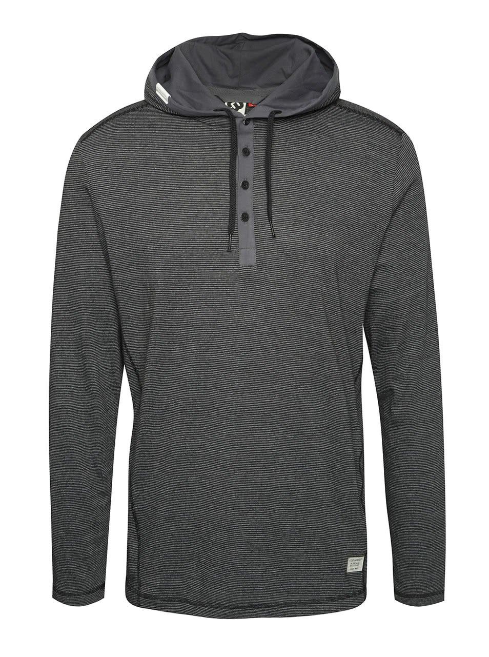 Černé pánské tričko s kapucí Ragwear Fall