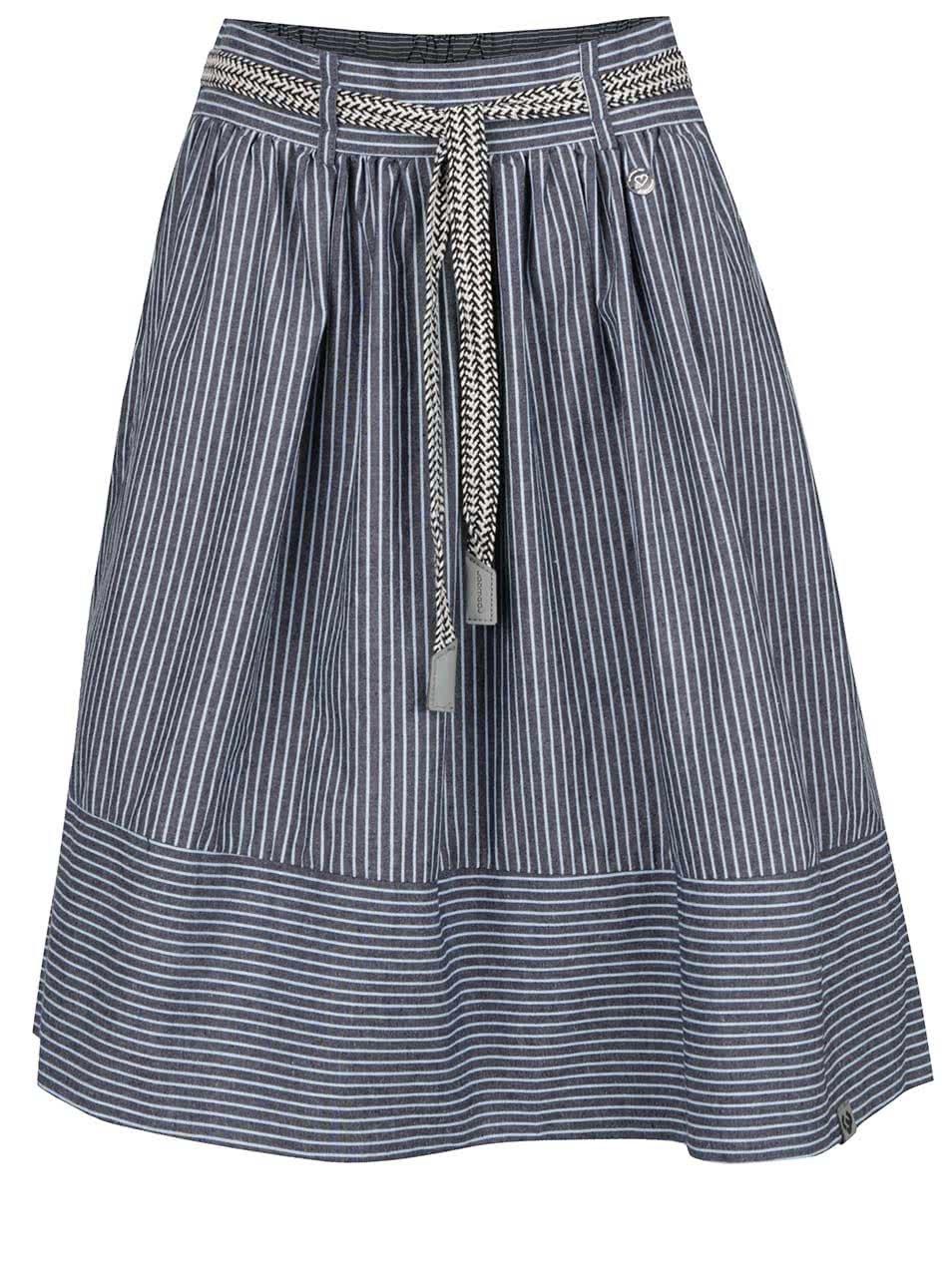 Modrá pruhovaná sukně Ragwear Vendy