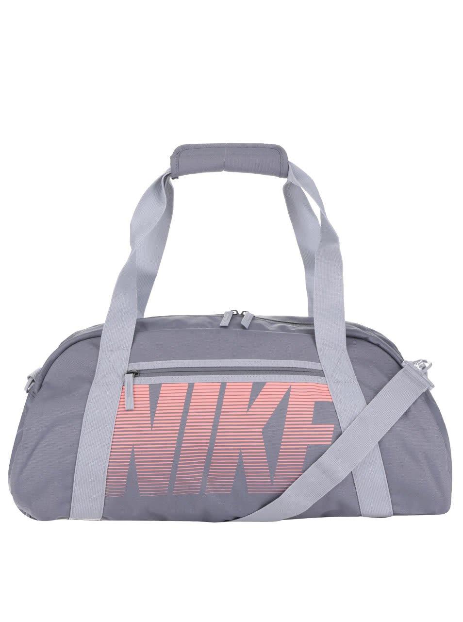 Šedá dámská sportovní taška s potiskem Nike 30 l
