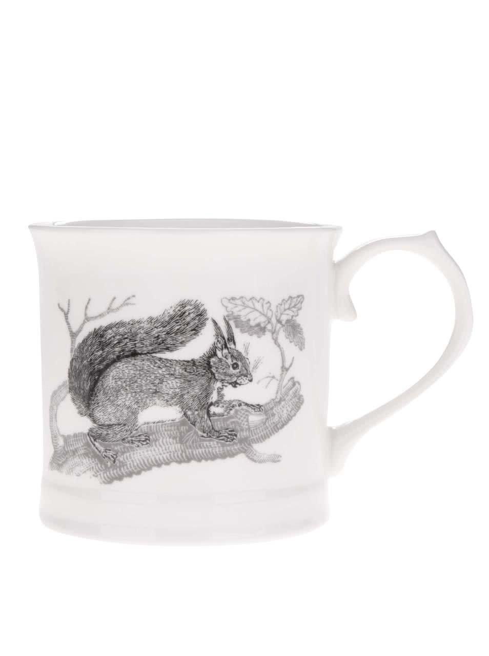 Krémový hrnek s potiskem veverky Magpie Bewick
