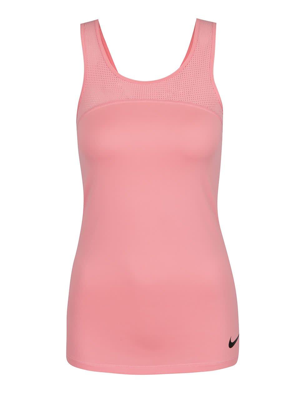 Růžové dámské funkční tílko Nike Pro Hypercool