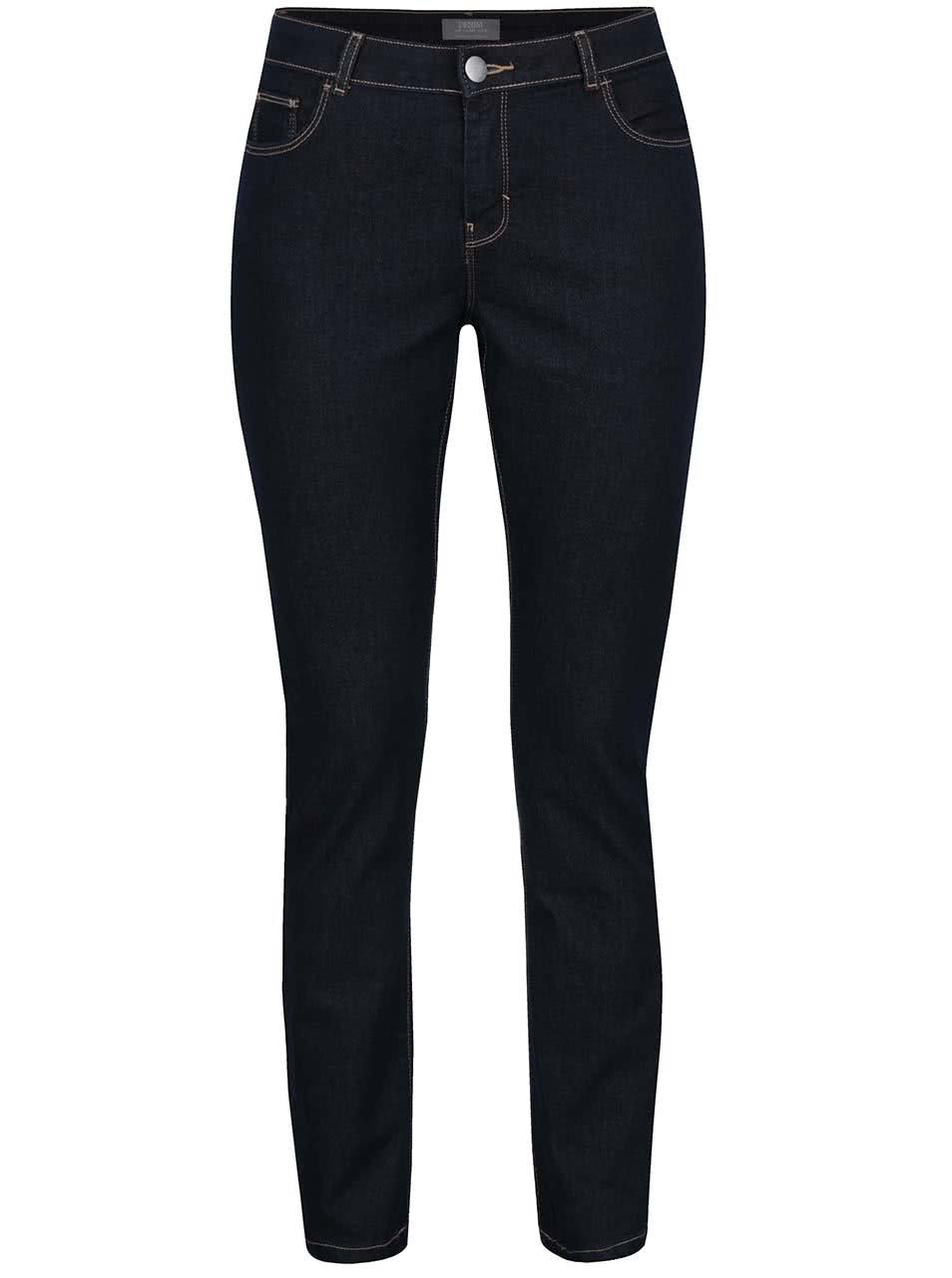 Tmavě modré džíny s prošívanými lemy Dorothy Perkins