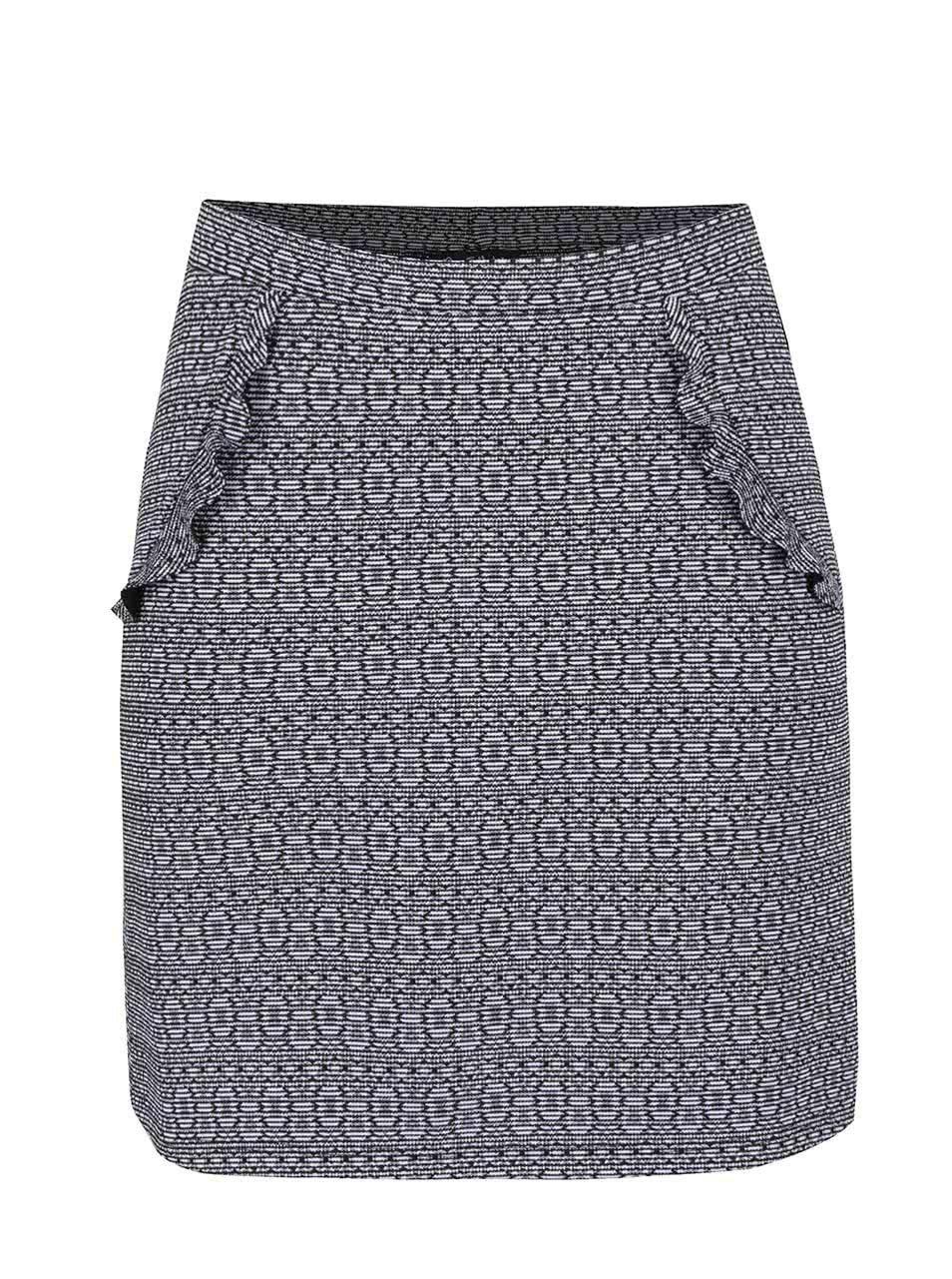 Černá vzorovaná sukně Miss Selfridge