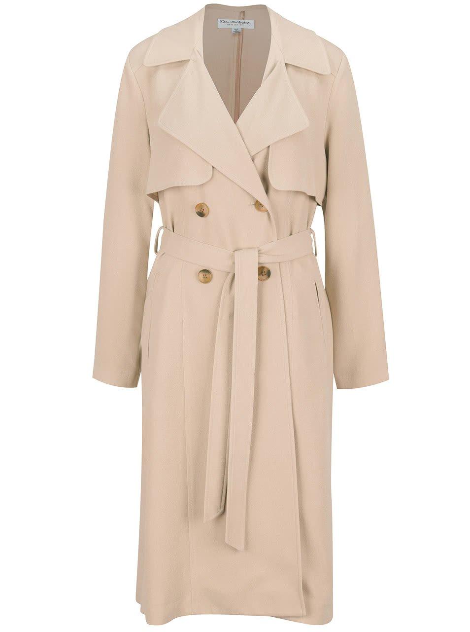 Běžový kabát Miss Selfridge