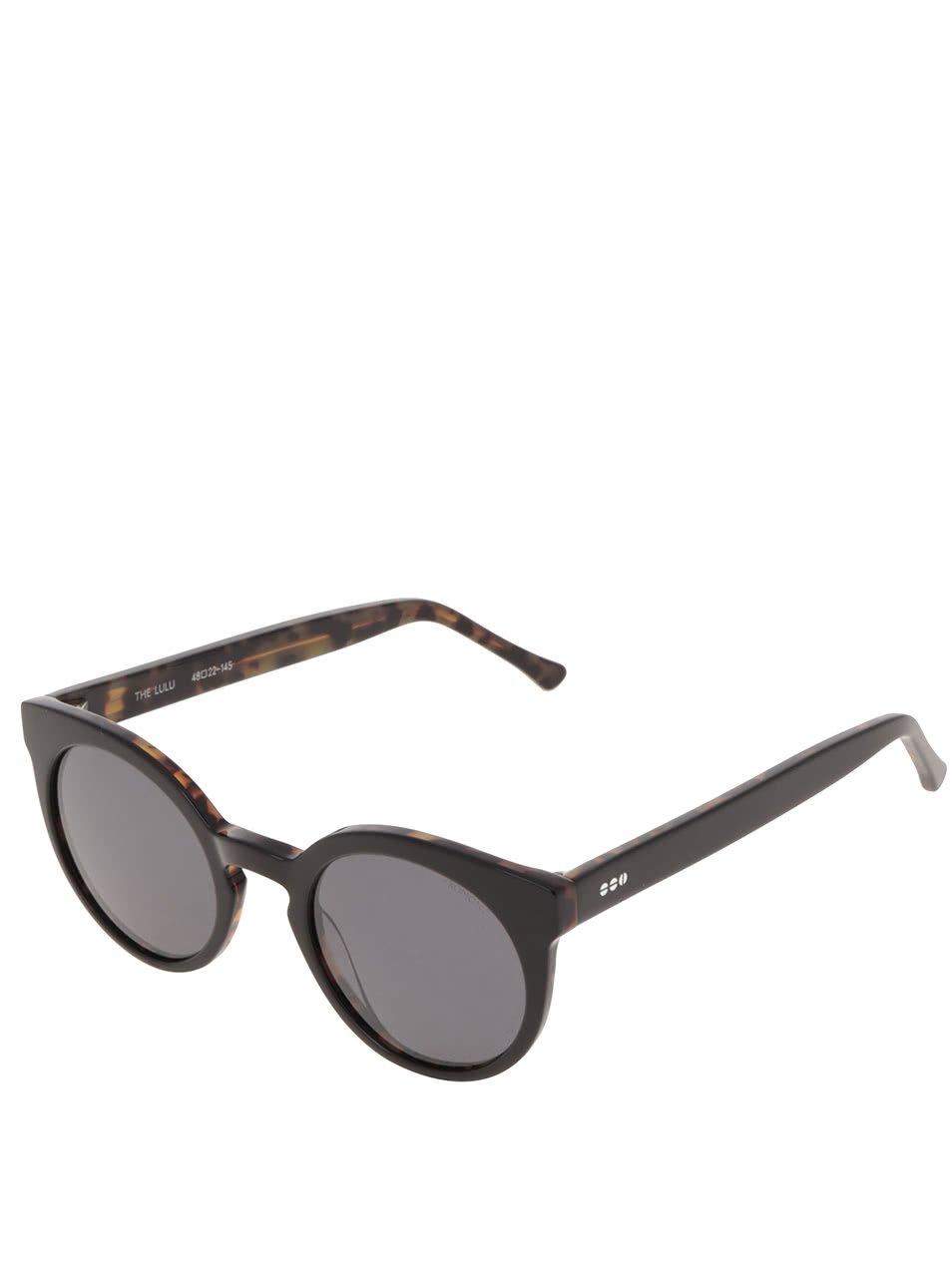 Černé pánské sluneční brýle Komono Crafted Lulu