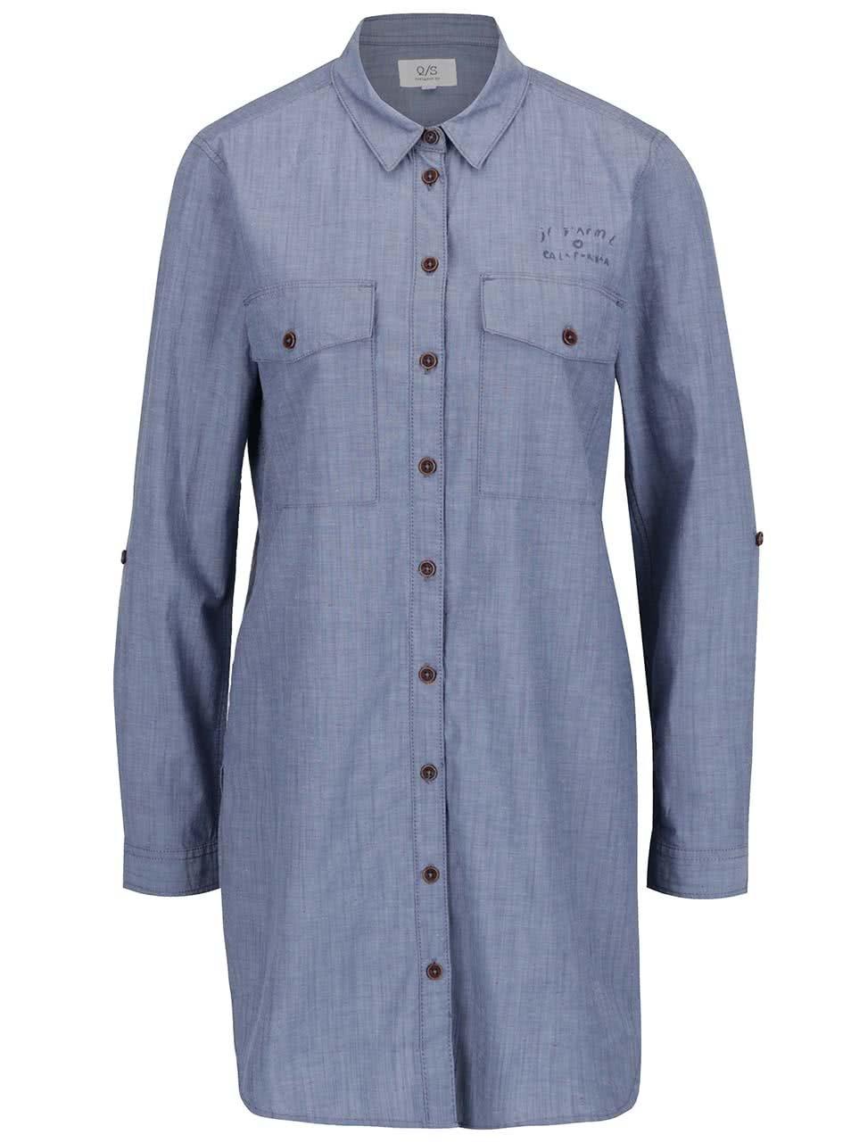 Modrá dámská dlouhá košile s.Oliver