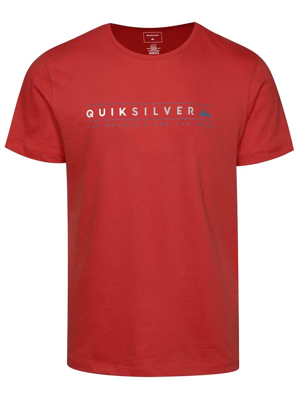 Červené pánské triko s krátkým rukávem Quiksilver