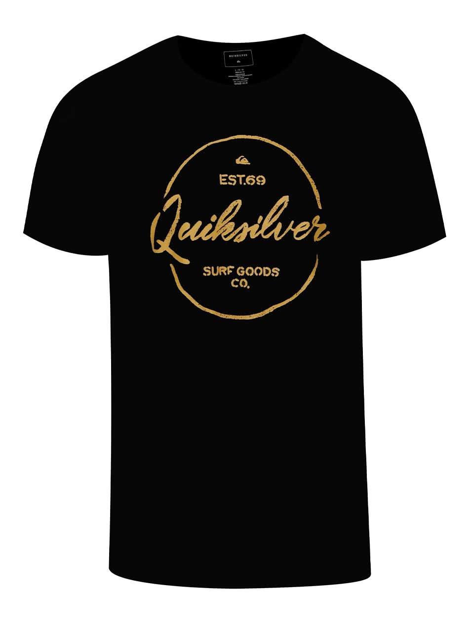 Černé pánské triko s potiskem Quiksilver