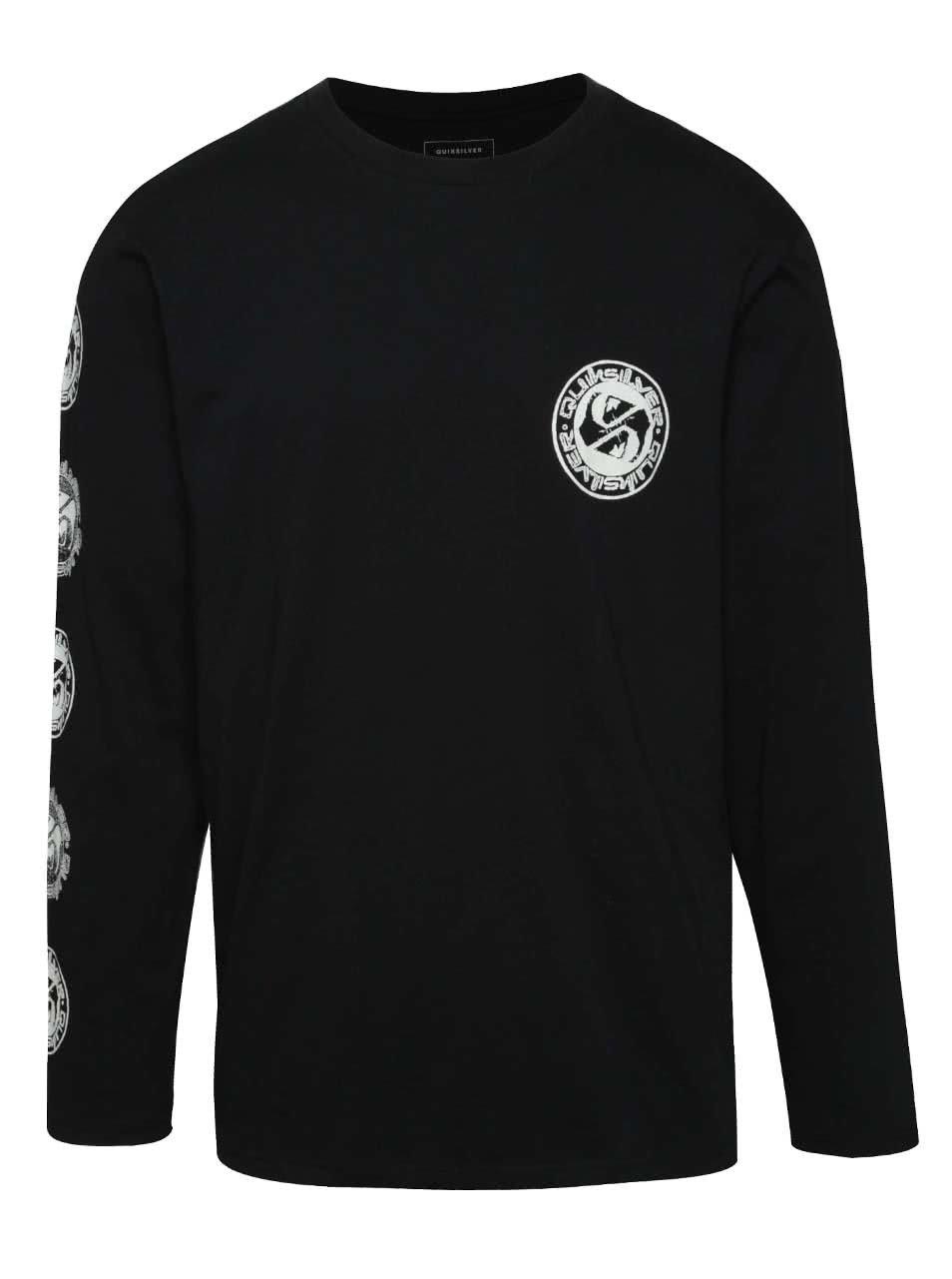 Černé pánské triko s dlouhým rukávem Quiksilver