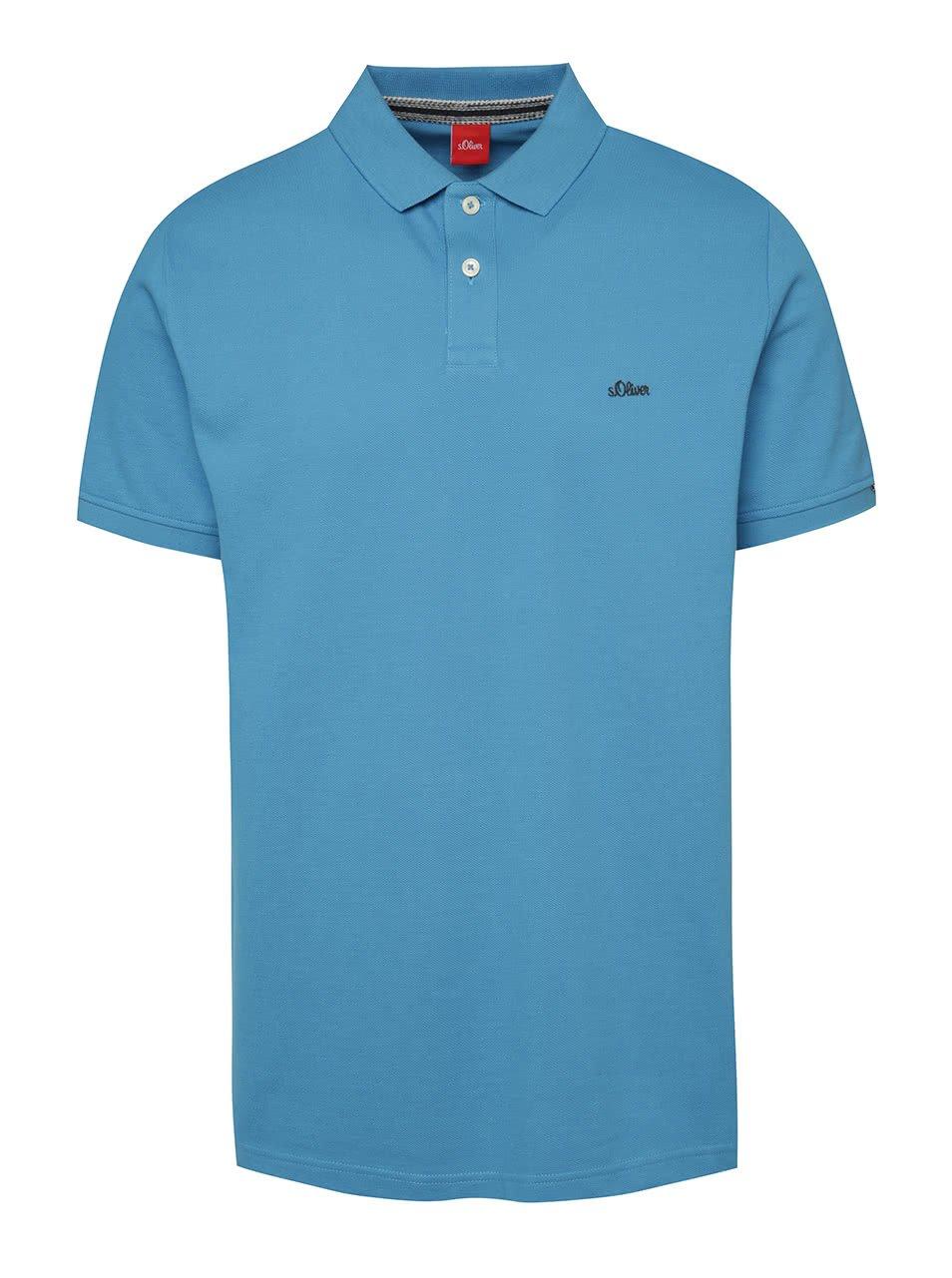 Modré pánské polo triko s.Oliver